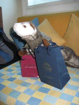 Shoppen mit Bigbird in Shopland. Schottland.