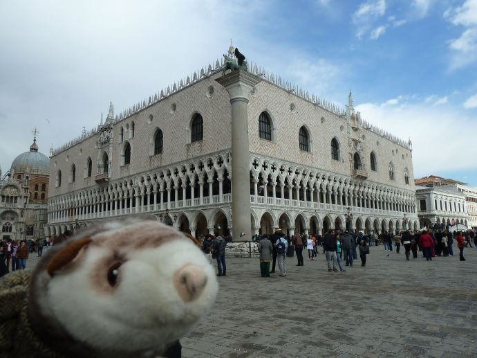 Wiesel vor dem Dogenpalast.