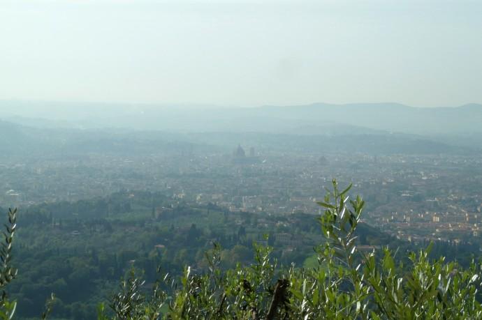 Florenz, von Fiesole aus gesehen.