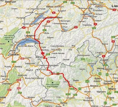 Tag 13: Von Italien über die Berge, Aosta und  Montreux nach Bern.