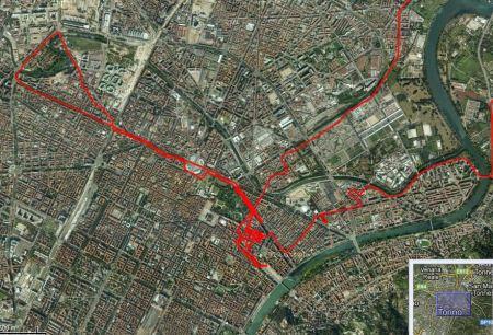 Kilometerweite Irrfahrt durch  Turin.