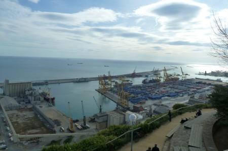 Der Containerhafen von oben.
