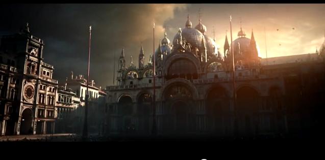 Basilica San Marco und Torre d´Orologio, Bild aus dem Debüttrailer von Assassins Creed II.