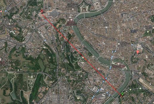 Vom Aventin bis zum Petersdom: In dieser Linie blickt man durch das Schlüsselloch.