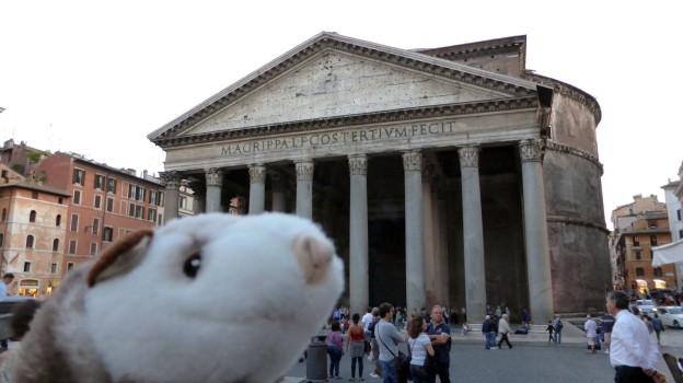 Wiesel vor dem Pantheon.