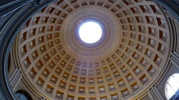 Was man nicht klauen konnte, baute man nach: Kuppel des Pantheon in einem Nebentrakt des apostolischen Palasts.