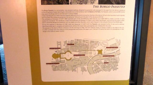 Verlauf des Geheimgangs zwischen Engelsburg und Vatikan.