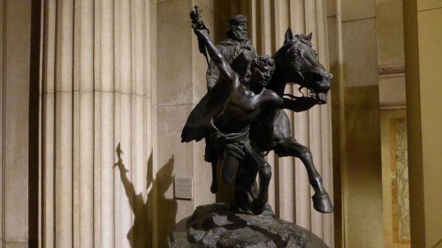Garibalds Pferd wird von einem Engel geführt. Würg.