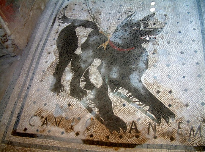 Cave Canem: Warnung vor dem Hunde.