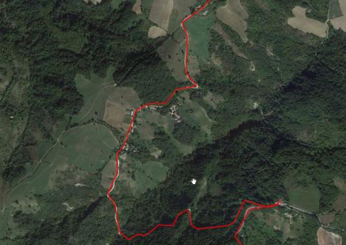 Sieht von oben so harmlos aus: Drei Kilometer Hölle.