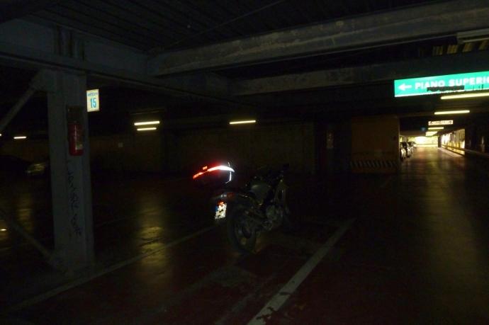 Auch im Dunkeln gut zu sehen, dank sehr guter Reflektoren.