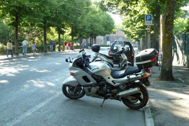 Lieblingsparkplatz an der Via dei Mille.