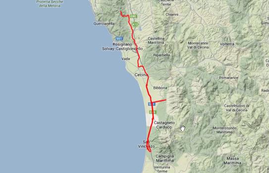 Nicht viel gefahren in den zwei Tagen: Einmal 55, einmal 75 Kilometer.