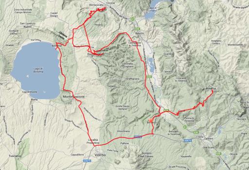 Tagestour: Von Piana delle Selve nach Bomarzo, an den Lago Bolsena, nach Orvieto, Civita di Bagnoregno und wieder zurück.