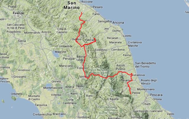 Tagestour: Rund 450 Kilometer in 10 Stunden.
