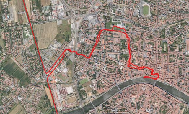 Spaziergang durch Pisa.
