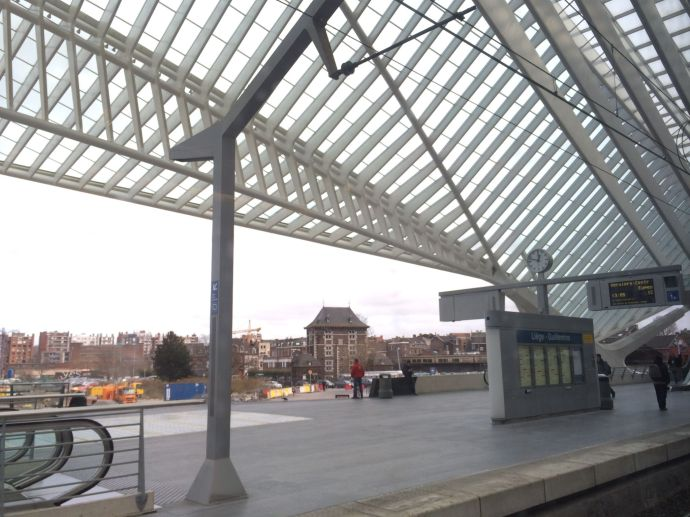 Calatrava-Bahnhof in  Liège Guillemins.