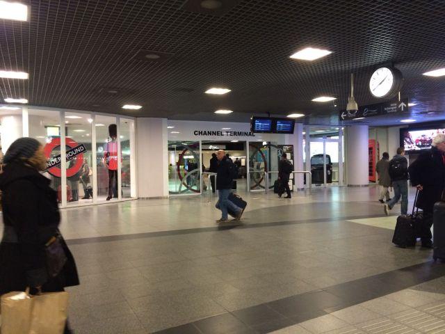 Terminal des Eurostar nach London.