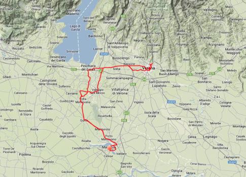 Tagestour: Von Volta Mantovana nach Verona, dann zurück und schließlich nach Mantova.