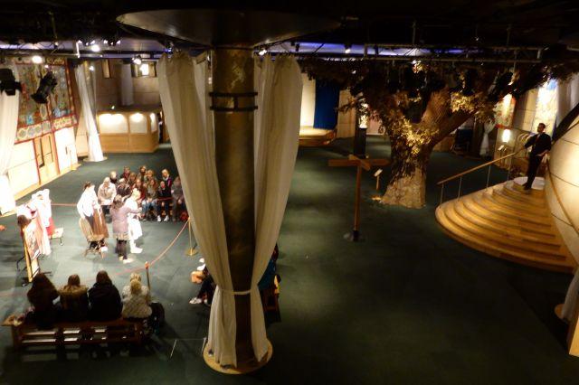 Im Inneren des Globes gibt es eine Ausstellung und Workshops zu Schauspielerei und Kostümen.