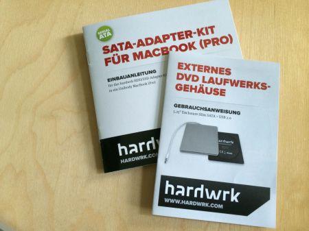 Fantastische Arbeit der Firma Hardwrk: Sehr gute, bebilderte Schritt-für-Schritt-Anleitungen zur Entfernung des DVD-Laufwerks und dem Einbau einer SSD.