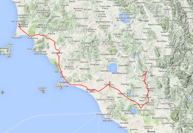 Tour des Tages: Von San Vincenzo in der Westtoskana über Grossetto und Tuscania bis nach Amelia in Umbrien.