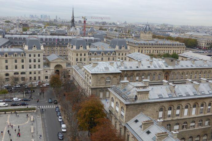 Blick auf den Justizpalast.