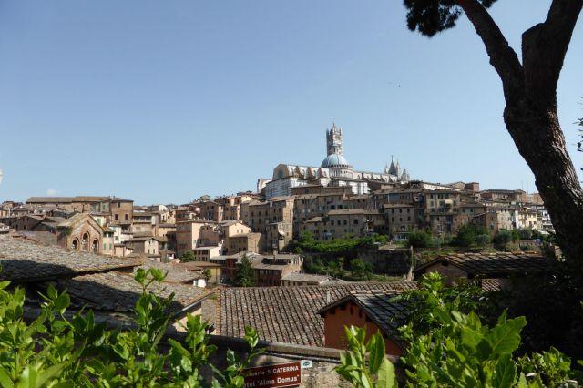 Siena thront auf drei Hügeln.