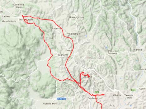 Kurze Nordschleife: Abstecher nach Monteriggioni.