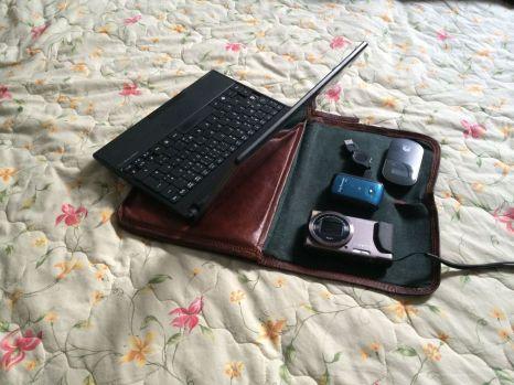 Ausrüstung: Netbook, Kamera, GPS-Tracker, MiFi.