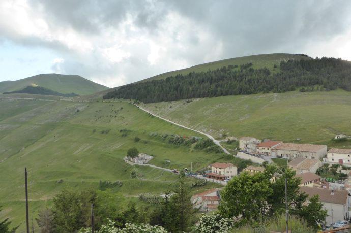 In der Mitte des Bildes: Il Guerrin Meschino, der Gasthof, der meine Unterkunft ist.