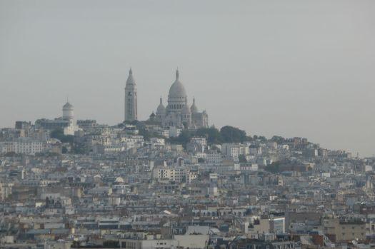 Die Kirche Sacre Coeur auf dem Berg Montmartre.