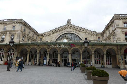Ankunft am Gare de l´Est.