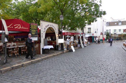 Place du Tertre mit Künstlern.