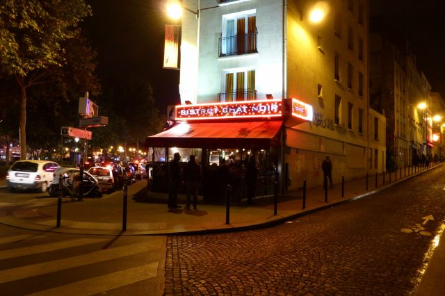 Le Chat Noir. Für diese Bar malte schon Toulouse Lautrec Plakate.