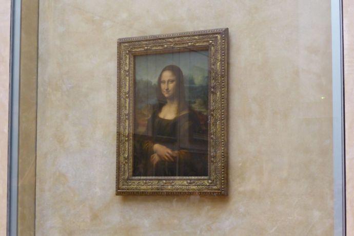 La Giocanda, die Lächelnde. Bei uns bekannt als Mona Lisa.