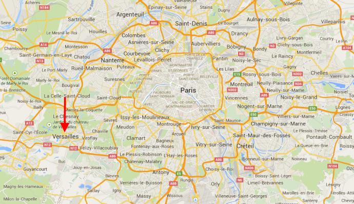 Versailles liegt rund 20 Km von Paris entfernt.