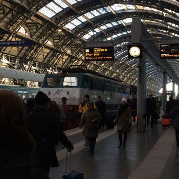 Bahnhof in Mailand: Los geht´s, gen Süden!