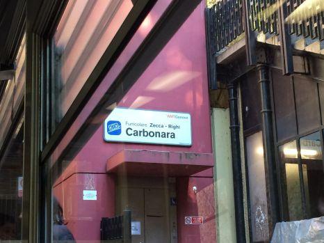 Zwischensation Carbonara. Hmmm, lecker.