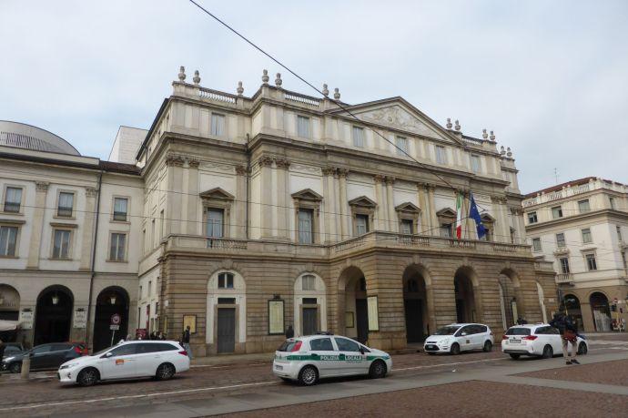 Die Scala, das berühmte Opernhaus von Mailand.