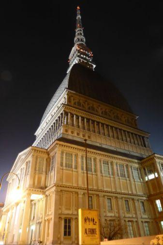 Die Mole Antonelliana, Wahrzeichen von Turin und nationales Filmmuseum.