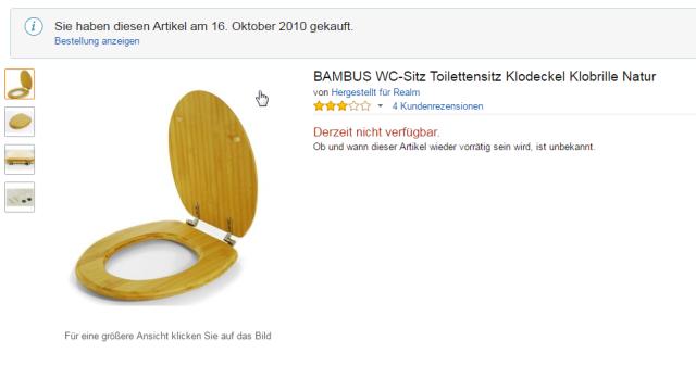 -BAMBUS WC-Sitz Toilettensitz Klodeckel Klobrille Natur_ Amazon.de_ Baumarkt
