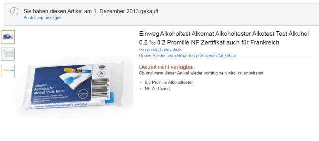 Einweg Alkoholtest Alkomat Alkoholtester Alkotest Test_ Amazon.de_ Elektronik
