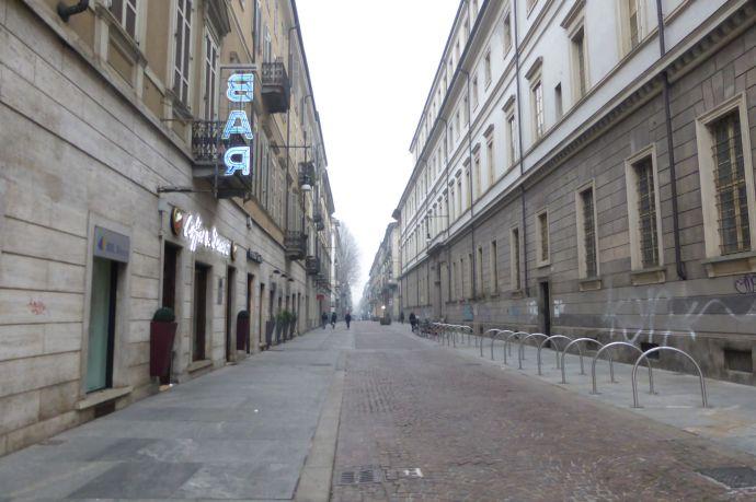 Turin: Grau in Grau, Straße an Straße.