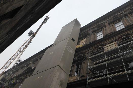 Baustelle: Das Ägyptische Museum. Muss ja unbedingt vor der Expo in Mailand noch komplett umgebaut werden.