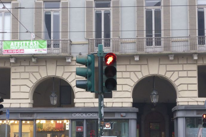 Go home, Ampelmännchen, you are drunk.