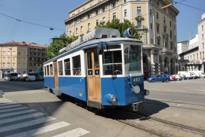 Schön: Alte Straßenbahn