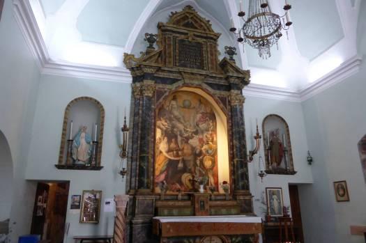 Kleiner Innenraum in der Kirche der Toten.