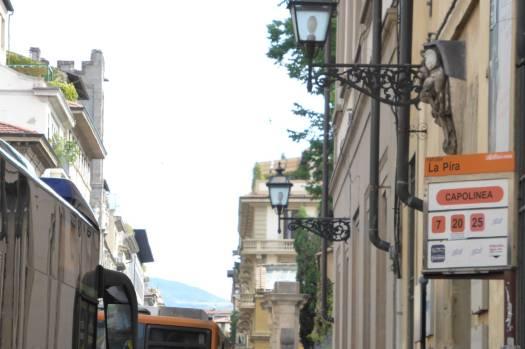 Hier fährt der Bus nach Fiesole ab.