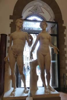 Renaissance-Adam und Renaissance-Eva.